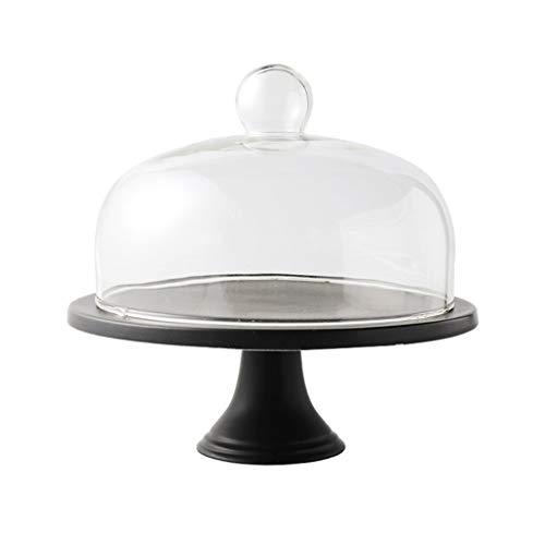 C-J-Xin ronde taartstandaard, verjaardagsfeestje vitrine Garden Hotel proeflade glazen koepel yoghurt chocolade cover 10 inch taart staat