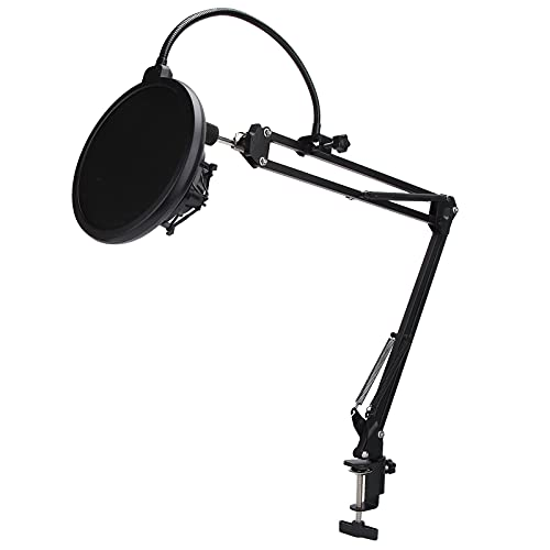 01 Clip de Soporte de micrófono de suspensión, Soporte de micrófono Soporte de Brazo de micrófono extraíble para Karaoke para Estudio para Escenario para transmisión en Vivo