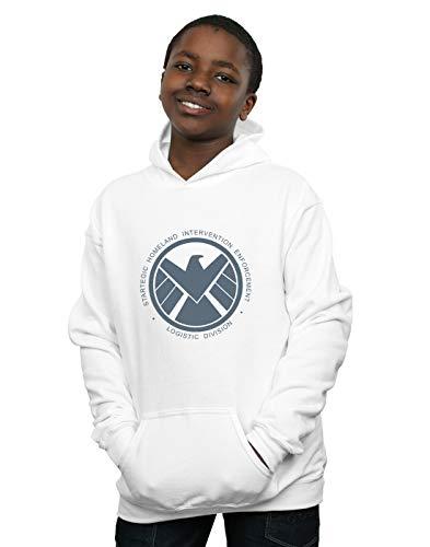 Marvel Niños Agents of S.H.I.E.L.D. Logistics Division Capucha Blanco 9-11 Years