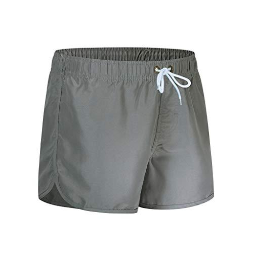 MOTOCO Herren Shorts Badehose schnell trocken Strand Surfen Laufen Schwimmen elastische Taille gespleißt Watershort Hose(XL,Gray-2)