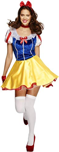 Fever Damen Märchen Kostüm, Kleid, Unterrock, Haarreifen und Halsband, Größe: L, 30195