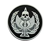 Call of Duty Task Force 141 Military Patch 3D PVC Rubber Tactical Rubber Hook Patch PVC Patch (Black)