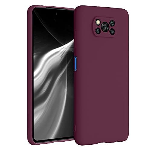 kwmobile Hülle kompatibel mit Xiaomi Poco X3 NFC/Poco X3 Pro - Hülle Handyhülle - Handy Hülle in Bordeaux Violett