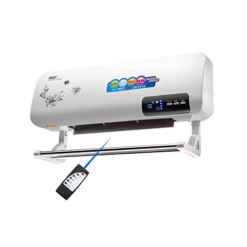 Sunny Montage Mural Céramique De Bureau Chauffe-YG-200 Télécommande, Alimentation Réglable 3 Fichiers, Salle De Bains Ceinture Imperméable Etendoir