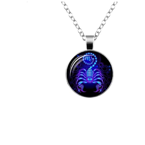 Collares colgantes 12 signo del zodiaco collar galaxia constelación diseño horóscopo astrología para mujeres hombres cristal cabujón joyería