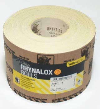 50m x 115 mm P80 Indasa Schleifpapier Yellowline GP 0,4€/m