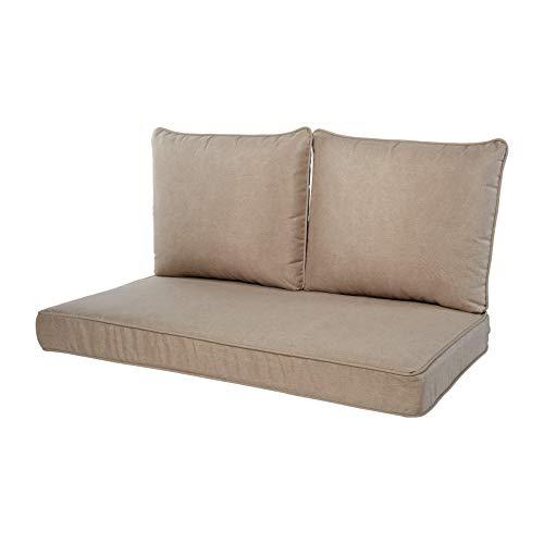Quality Outdoor Living 29-BG02LV Loveseat Cushion, 46 x 26 3PC, Beige