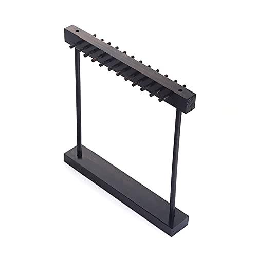 XIAOFANG Holz 24-Haken Halskette Schmuck Aufhänger Display Rack Schmuck Anzeigenständer/Tischplatte Halskette & Armband Lagerorganisator (Color : Black)