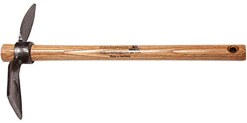 Unbekannt Gartenhäckchen geschmiedet - mit rundem Auge und einem Zinken - Stiel aus Eschenholz mit 40 cm Länge - Krumpholz Gartengerät