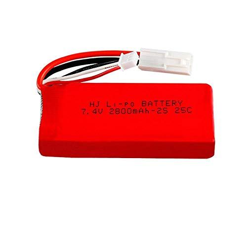 Dilezhiwanjuwu E7.4V 1500mAh / 2800MAH batería Lipo/Cargador USB para FT009 RC Barco lancha rápida 12428 batería Lipo 2S 7,4 V 1500mah 2S-7.4v 2800mah 1pc