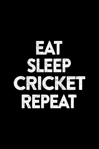 Visitor Register - Cricket Game Gifts Good Eat Sleep Cricket Repeat Vintage Art: Visitor Register Book for Business, Visitor Book For Signing In and ... sign in record book Series),Business
