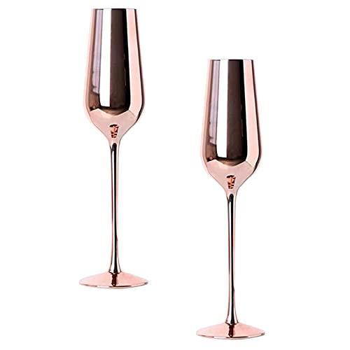 YKW 2 unids Vino Vino Taza champán Taza Beber Vidrio de pie Taza de Beber Tazas de Bombeo champán Vidrio de pie Taza de Beber Tazas