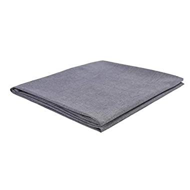 Kpblis Washed Cotton Removable Duvet Cover for Weighted Blanket Inner Layer 60 x80  JUST Cover, Dark Grey