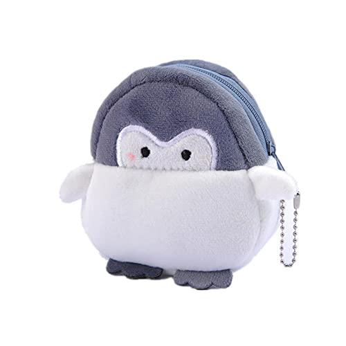 Wdl Penguin Penguin Monedero Bolso De Lápiz Labial Lindo Peluche Juguete Grey-9cm*8cm*4cm