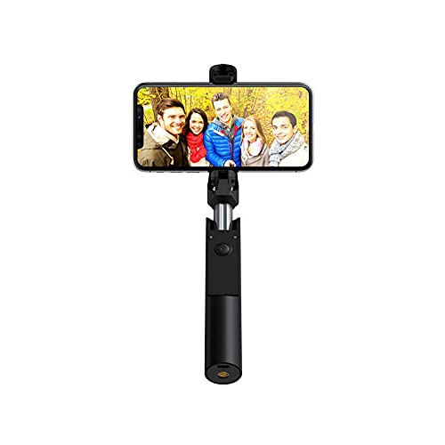 Xhtoe Palo selfie compacto extensible Bluetooth selfie stick monopod para video de viaje (tamaño: 25 x 30 x 157 mm; color: negro)