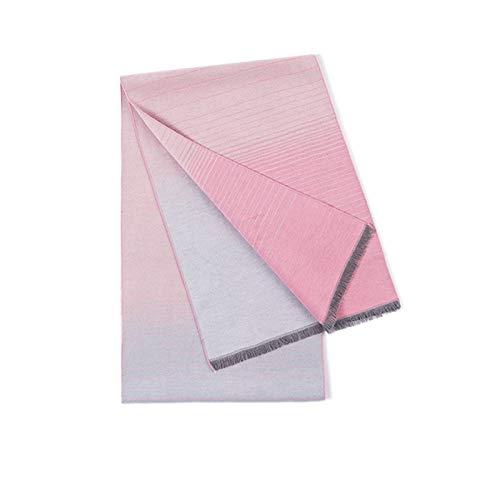 hkwshop Wrap Schal Luxuriöse Silk Samt Schal Art und Weise Allgleiches Schal for Männer und Frauen, warme und weiche Schale (Short Troddel-Art) Eleganter Schultertuch (Color : Pink)