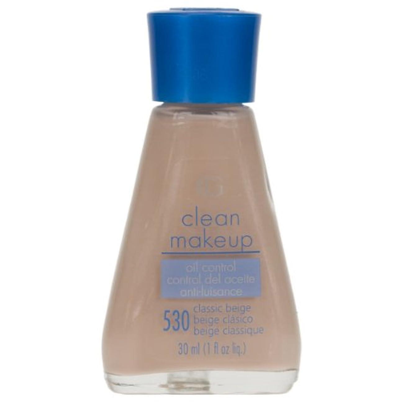 ご予約血まみれの批判するCOVERGIRL CLEAN OIL CONTROL MAKEUP #530 CLASSIC BEIGE