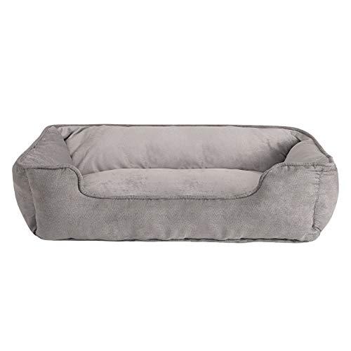 dibea Cama perros 2 en 1 cojín perros sofá perros tamaño (L) 110x80 cm Gris