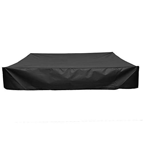 Gartenmöbelbezug Square Garden Wasserdicht Sandkasten Sandkasten Staubschutz Staubdicht Canopy Shelter Patio-Möbel-Kasten Schutzhülle Gewebe (Color : Black, Specification : 180x180cm)