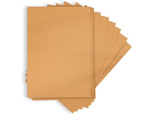 MC's Goods Kraftpapier A4 (50/75) Blätter | Natur Kartonpapier zum basteln von Scrapbook, Menükarten, Geschenkanhänger etc. | (170/ 270g) Papier Karton Dicke (50x, 170g)
