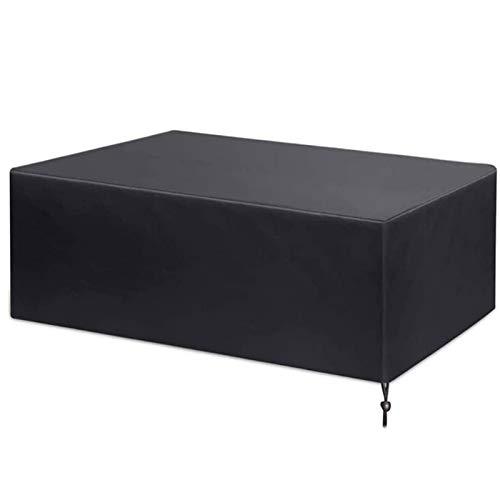 BAOFI Cubierta De Muebles De Jardin 240x240x85cm, Fundas De Muebles Impermeable Negro Exterior Patio Mesas, Cubiertas De Mesa De Jardín Anti-UV a Prueba De Viento Rectangulares De Tela Oxford