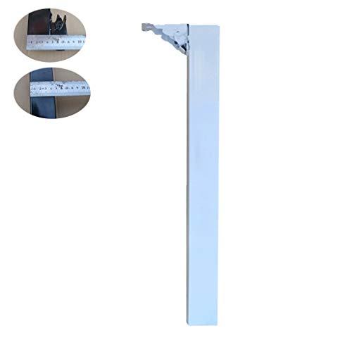 JJZCJ Möbelfüße/Tischbeine Schreibtisch Füße Vierkantrohr Tischbeine Metallscharnier Füße Sind Pulverbeschichtet Gute Haftung Der Geeignet Für Die Lagerung Unter Einem Bett Oder In Einem Schrank
