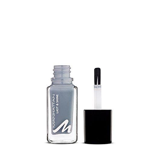 Manhattan Last & Shine Nagellack – Grauer, glänzender Nail Polish für 10 Tage perfekten Halt – Farbe Give It Some Welly 915 – 1 x 10ml