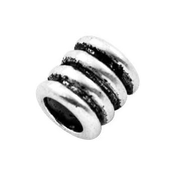 Charming Beads Pacco 20 x Argento Antico Tibetano 7 x 10mm Distanziatore Tubo Perline HA17395