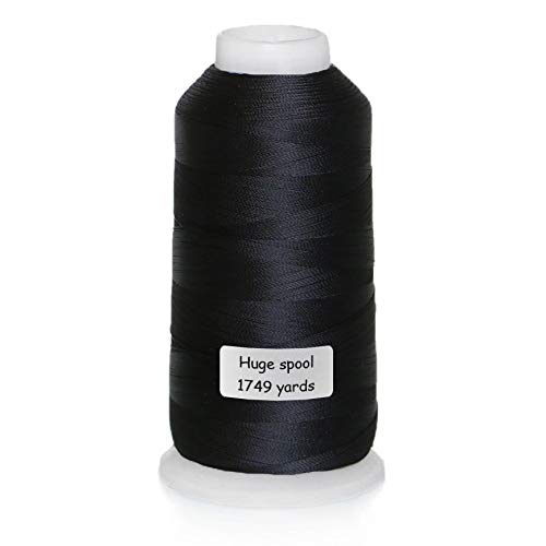 Black Embroidery Nylon Thread Durable Sewing Thread All Purpose for Sewing Machine Huge Spools 1749 Yards (1600M) for Hand Sewing Commercial Embroidery Quilting Serger – ACRAFT