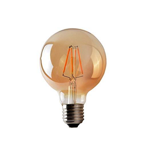 4 W G45 E27 LED-lampen met LED-lamp, retro-deksel, barnsteen, transparant, LED-lamp, tafellamp, antiek glas, verstelbaar
