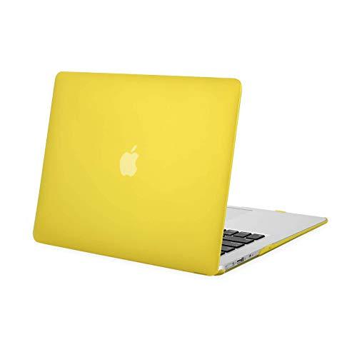 MOSISO Funda Dura Compatible con MacBook Air 13 Pulgadas (A1369 / A1466, Versión 2010-2017), Ultra Delgado Carcasa Rígida Protector de Plástico Cubierta, Amarillo