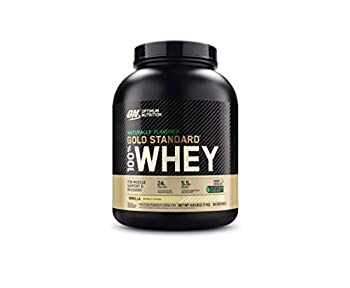 Optimum Nutrition Gold Standard 100% Whey Protein Powder Naturally Flavored Vanilla 4.8 Pound  Packaging May Vary