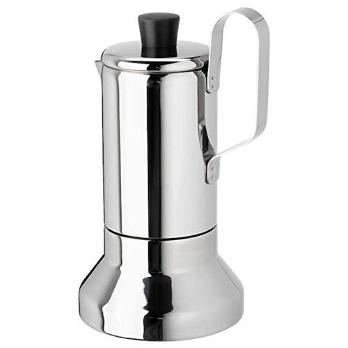 IKEA 703.602.25 Metallisk Espressokocher für Kochfeld Edelstahl
