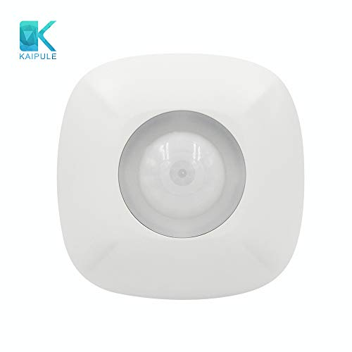 KAIPULE Ceiling-Mounted Z-Wave Plus PIR Motion Sensor,Compatible with Fibaro,HomeSeer and Vera -  Easy to install - White