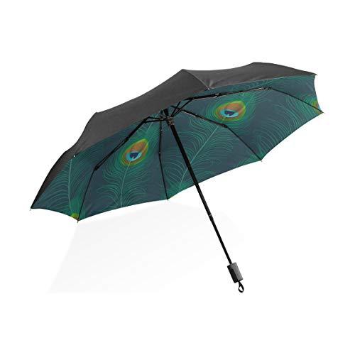 Paraguas para niños A Prueba de Viento Hermosas Plumas de