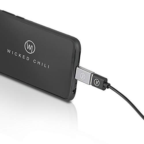 Wicked Chili USB C auf USB Adapter Set kompatibel mit Matebook X Pro, XPS 13, Surface Book 2, Spectre Folio, Yoga C930, Swift 7 und Ultraportable Laptops USB C Superspeed+ Adapter (5GBits) platingrau
