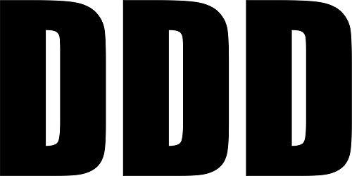 Akachafactory Sticker, zelfklevend, voor deur, auto, motorfiets, alfabet, brievenbus met naam, zwart, 3 stuks