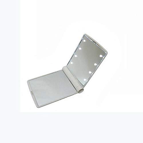 Alto Grado De Led Espejo Cosmético Con Emisores De Luz Táctil Portable De La Belleza Del Espejo Con El Espejo Plegable Espejo Ajustable Del Brillo LED (Blanco)