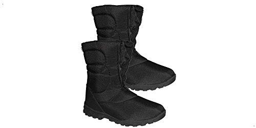 CN Outdoor - Paire de Boots CANADIENNES 100% Sports d'hiver - avec Fermeture-éclair Frontale - 45 EU