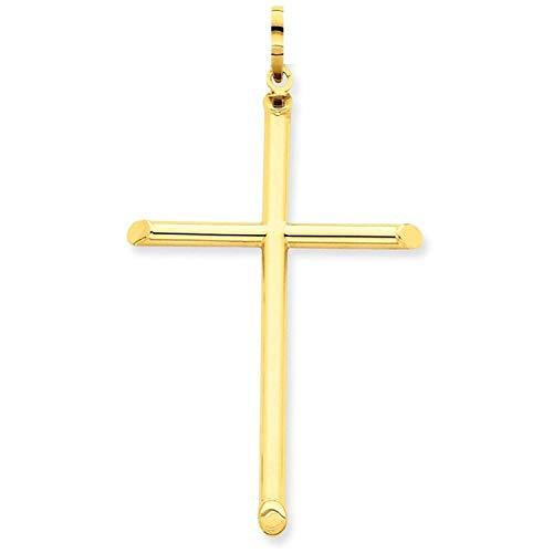PRINS JEWELS Gold Kreuz Anhänger Aus 14 Karat 585 Gelbgold Unisex