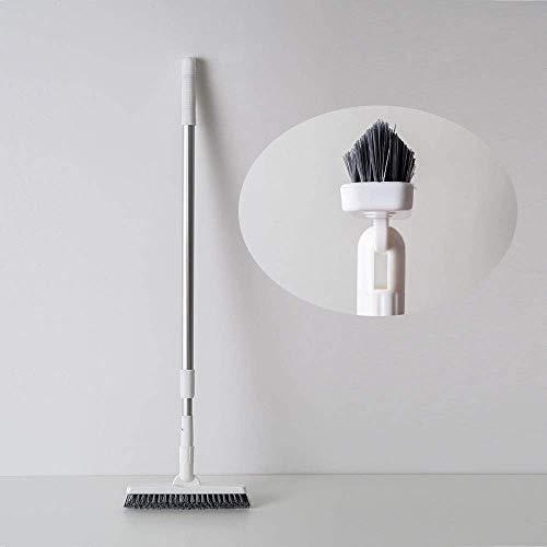 CHIRISEN Brosse pour joint de carrelage Poignée longue réglable en hauteur- Pour salle de bain, cuisine et maison Nettoie efficacement les carrelages