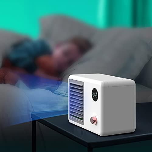 AHNUNVA Ventilador de aire acondicionado retro humidificador fresco ventilador humidificador portátil niebla recargable enfriamiento