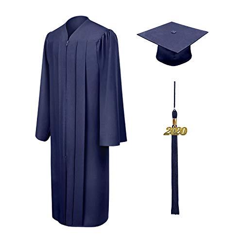 Shujin Akademischer Talar Doktorhut und Quaste Schule abschließen Uni Diplom Abschluss und Abschlussfeier-Marine-EU 48