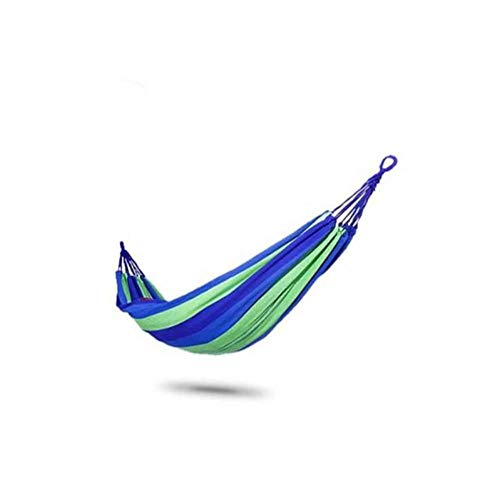 ZYX Outdoor Hammock, Hanging Chair Single and Double Thick Canvas Children's Dormitory Bedroom Camping Swing for Indoor and Outdoor Backpacking, Travel, Hiking, Beach Blue