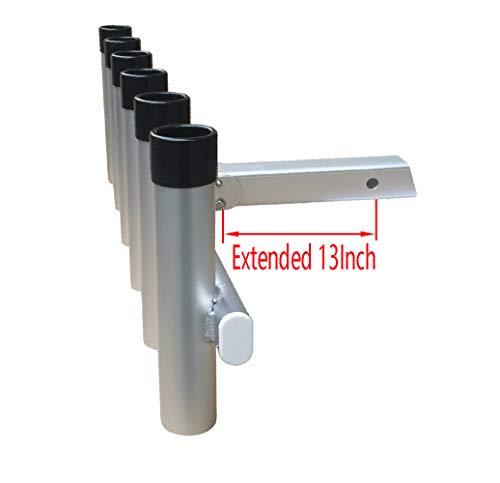 Brocraft Hitch Extender Mount 6 Pole Rod Holder/Hitch Fishing Rod Holder/Truck Rod Rack