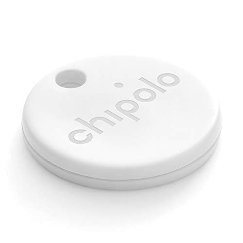 Chipolo One (2020) - Localizador de Llaves Bluetooth más Potente y Resistente al Agua (Blanco)
