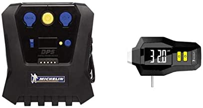 Michelin High Power Rapid Tire Inflator 12266 WITH Digital Pressure Gauge with Tired Tread Depth 12293