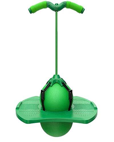 LFFME Balón de Equilibrio de Equilibrio para Adultos y niños, Saltar Bola del pogo con Mango y Bomba, Pogo Stick Flybar Equipo de Juguetes de Salto para niños para niños,Verde