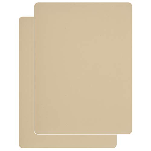 Sayopin Leather Repair Patch Kits for Car Seats Couches and Elbow 2 Pieces Self-Adhesive Patch for Leather and Vinyl Repair, 8× 11inch Leather Sofa Repair Kits(Beige)