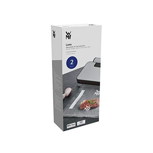 WMF Lono Vakuumrollen für Vakuumiergerät, 2 Rollen, 600 x 30 cm, 4 lagige Folie, strukturierte / glatte Seite, bpa-frei, transparent